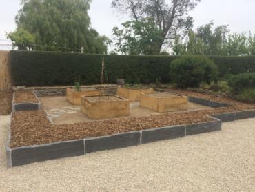 Aménagement du jardin potager - Vue d'ensemble- Chevallier Paysage