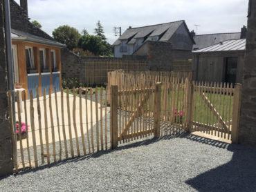 Réalisation d'une clôture en ganivelle et portillon - Cancale - Chevallier paysage