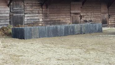 Jardinière en palis de schiste - Chevallier Paysage