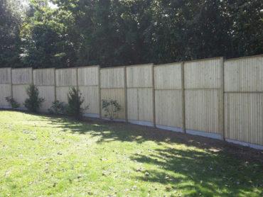 Réalisation d'un mur anti-bruit - Chevallier Paysage