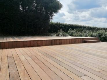 Terrasse, marche, conter-marche en bois exotique - Chevallier Paysage