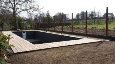 Entourage piscine en bois - Chevallier Paysage