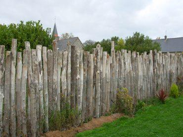 Palissade en pieux de bouchots - Chevallier Paysage