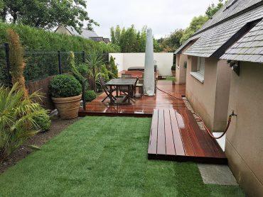 Terrasse en bois exotique - Chevallier Paysage